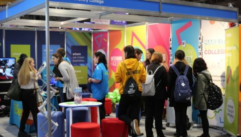 Learners at the Coventry College stand at the UK World Skills Show