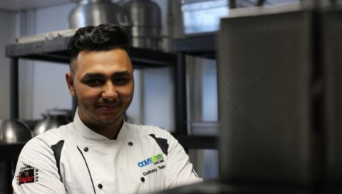 Coventry College catering learner Alin Stoica