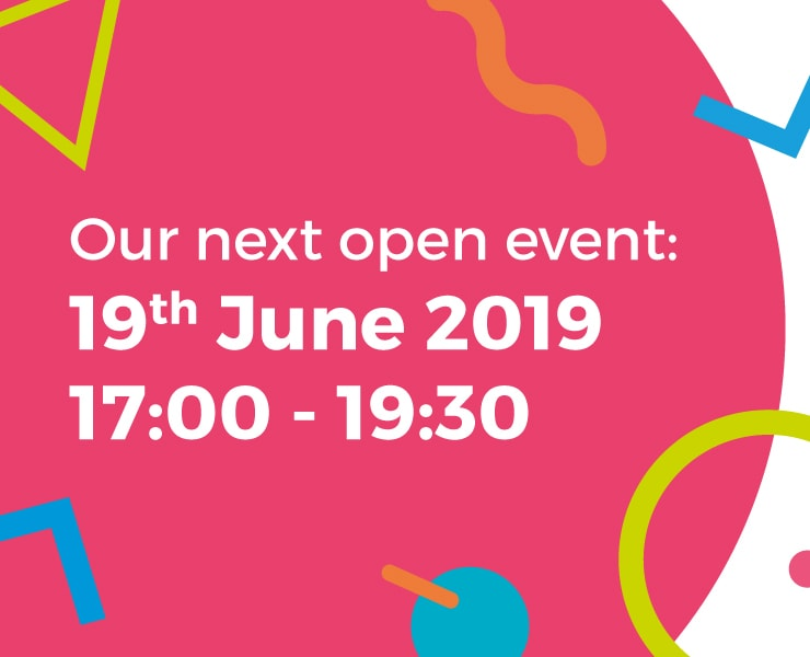 19th June 2019 Open event