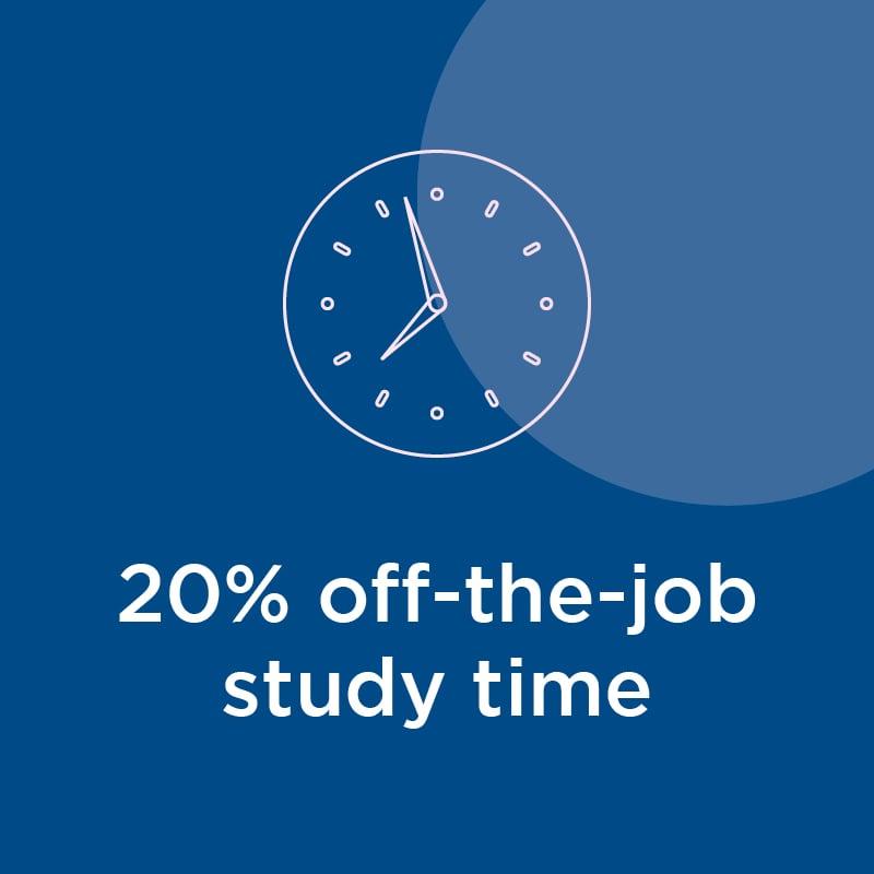 20% off-the-job study time