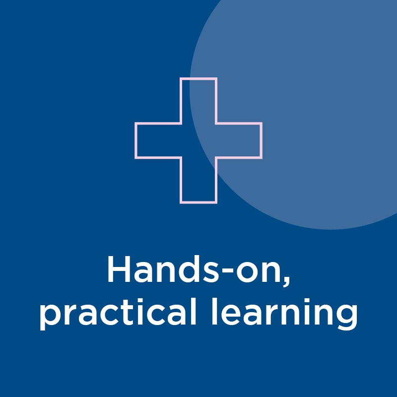 hands-on, practical learning