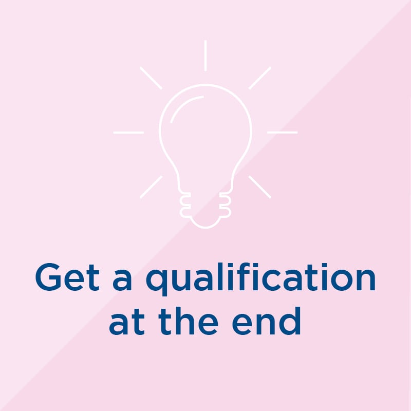 Get a qualification at the end