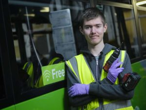 Apprentice Daniel works towards dream career