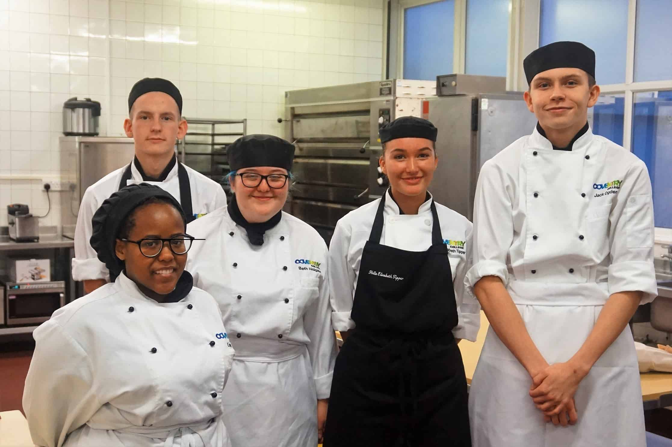 Coventry College catering students in the kitchen