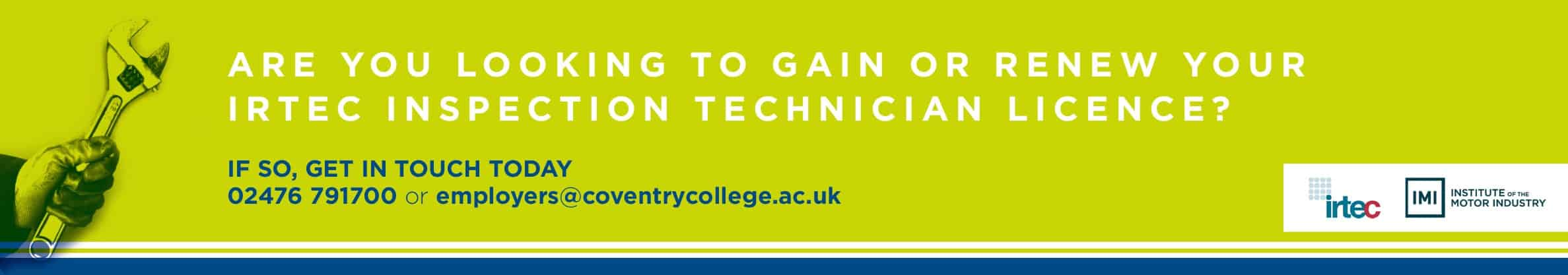 Are you looking to gain or renew your IRTE Inspection Technician Licence?