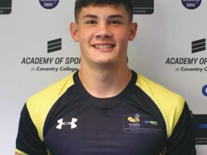 College rugby prodigy has been selected to represent England