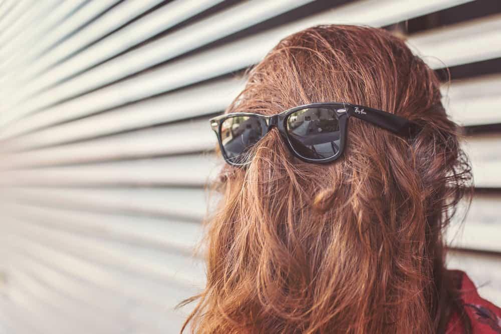 Lady having a bad hair day