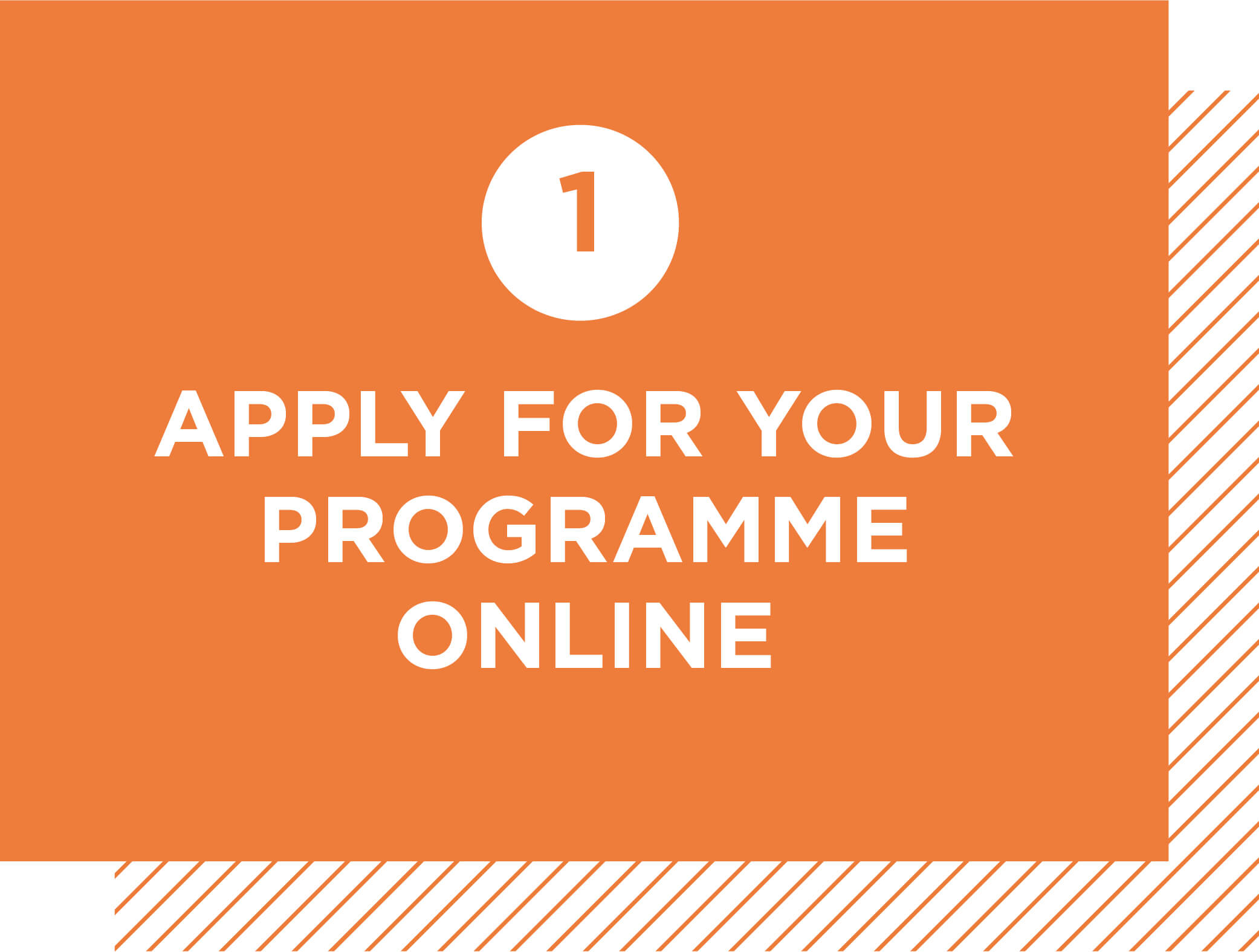 Step 1: Apply for your programme online