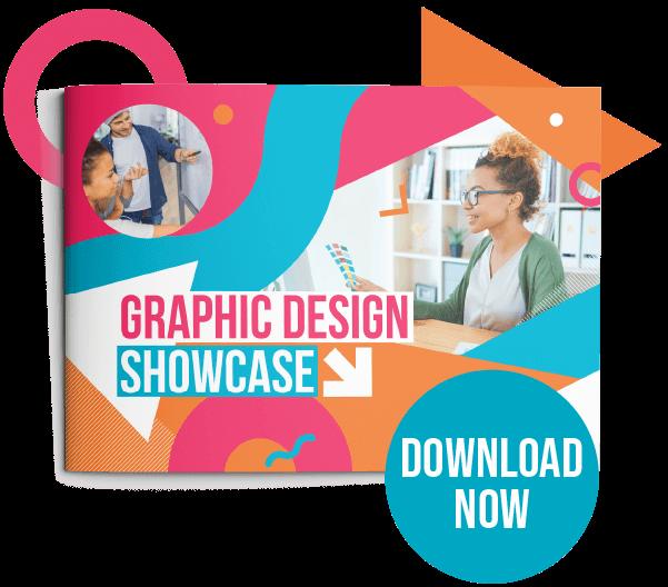 Button to download the Graphic Design showcase PDF