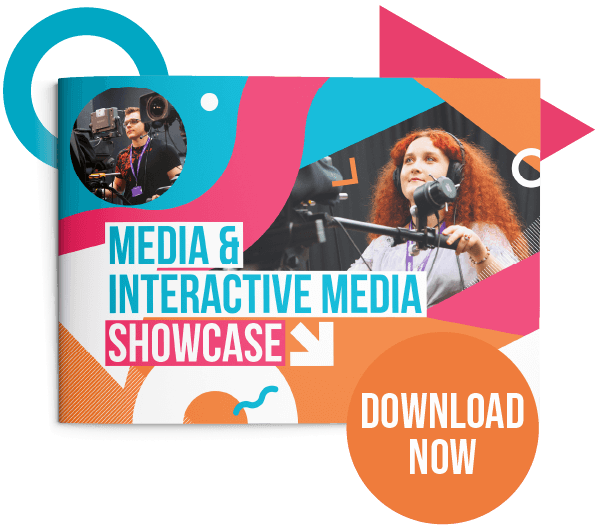 Button to download the Media and Interactive Media showcase PDF
