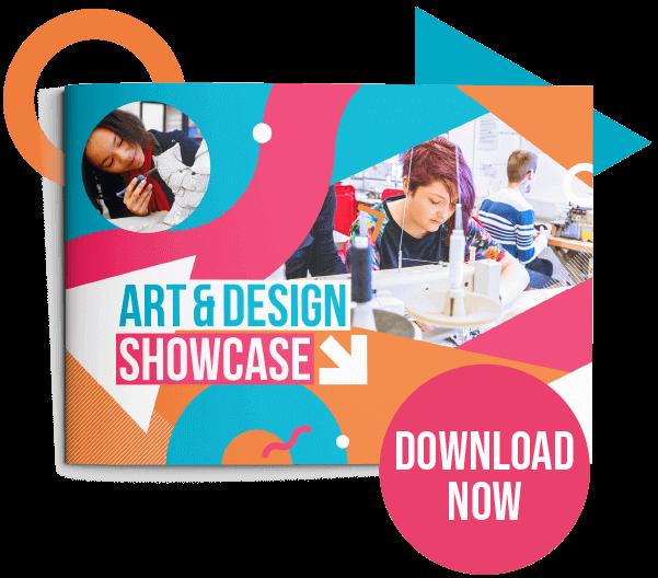 Button to view Art and Design showcase PDF
