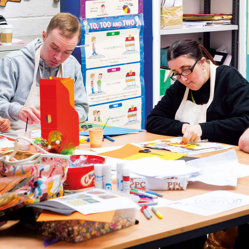 Life Skills learners in the classroom