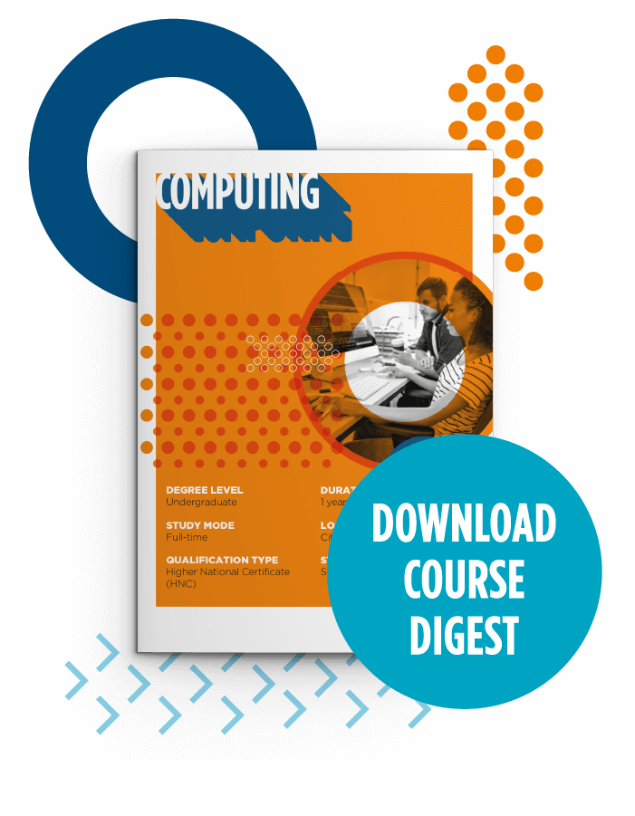 Button to download course digest for HND Computing