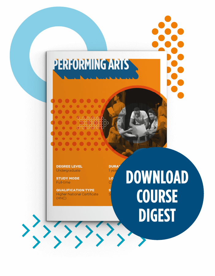 Button to download course digest for HND Dance (Performing Arts)