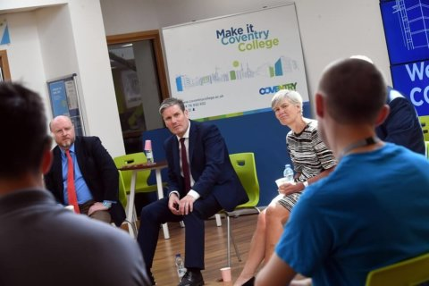 Keir Starmer at the College with learners and staff