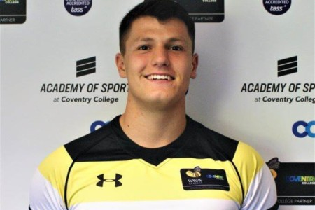 Jack English, Coventry College rugby payer.