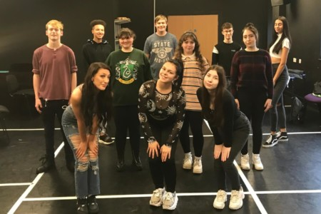 Musical Theatre students in their bubble